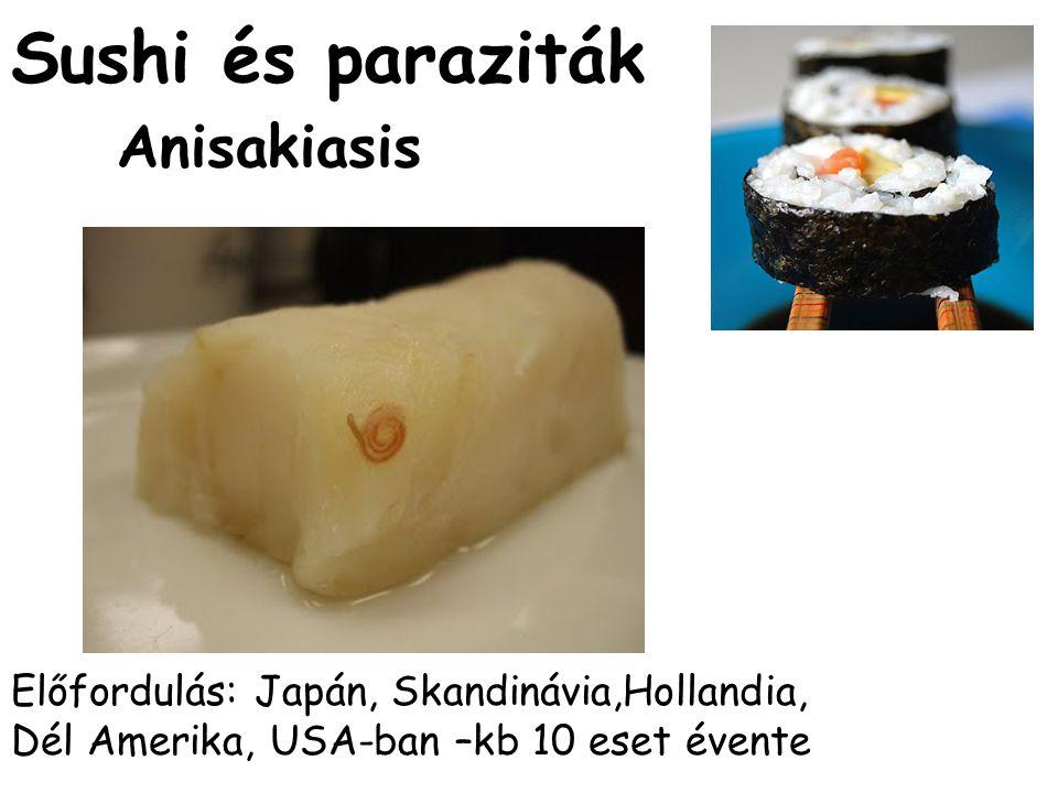 Sushi és paraziták Anisakiasis