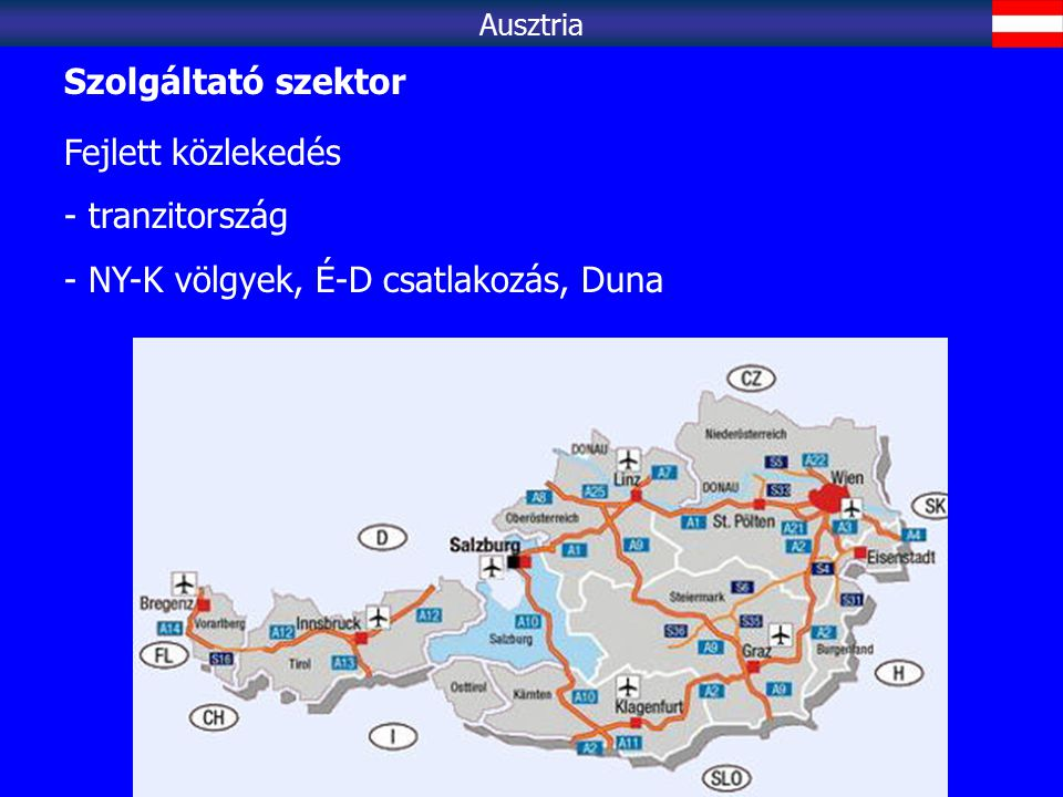 NY-K völgyek, É-D csatlakozás, Duna