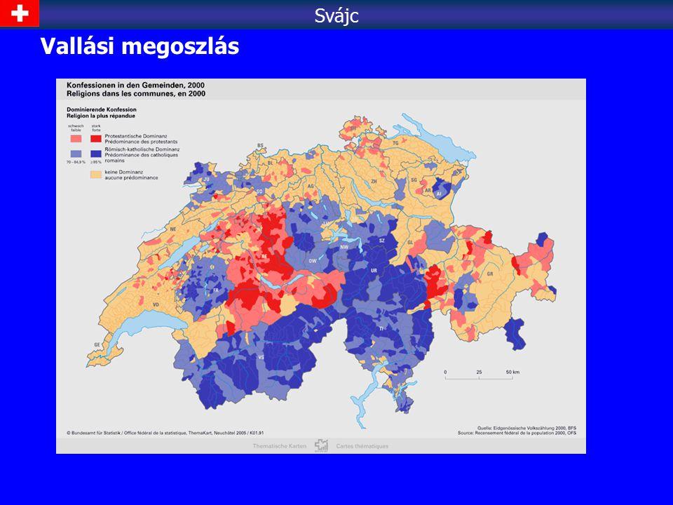 Svájc Vallási megoszlás