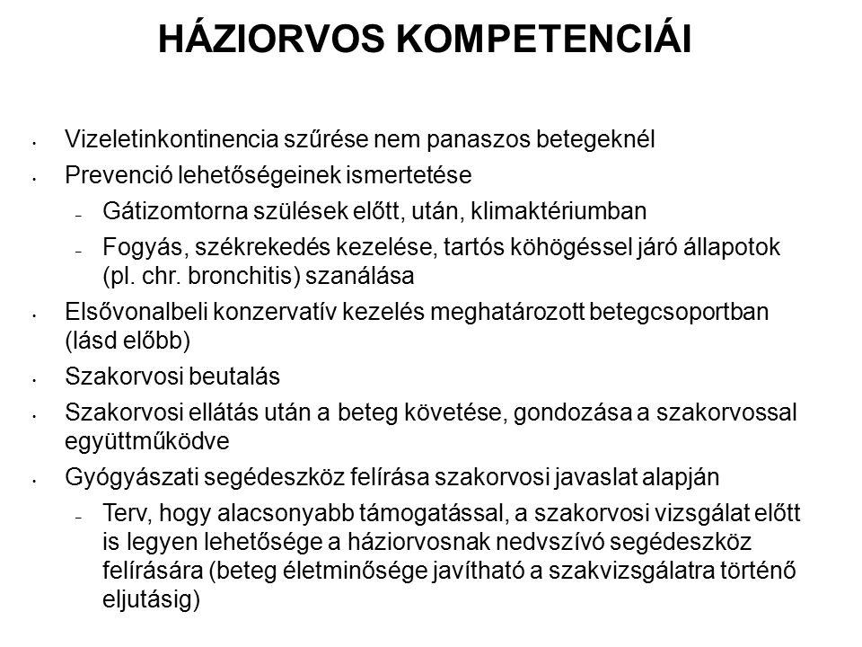 HÁZIORVOS KOMPETENCIÁI