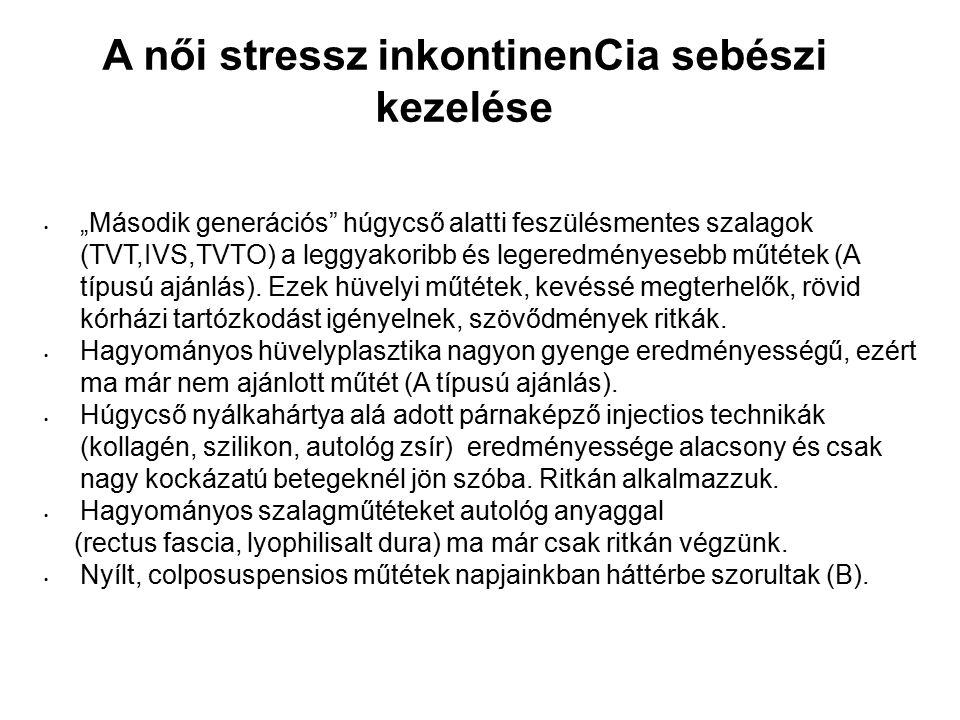 A női stressz inkontinenCia sebészi kezelése