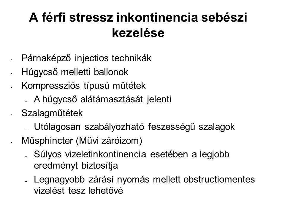 A férfi stressz inkontinencia sebészi kezelése