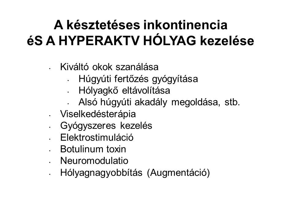 A késztetéses inkontinencia éS A HYPERAKTV HÓLYAG kezelése