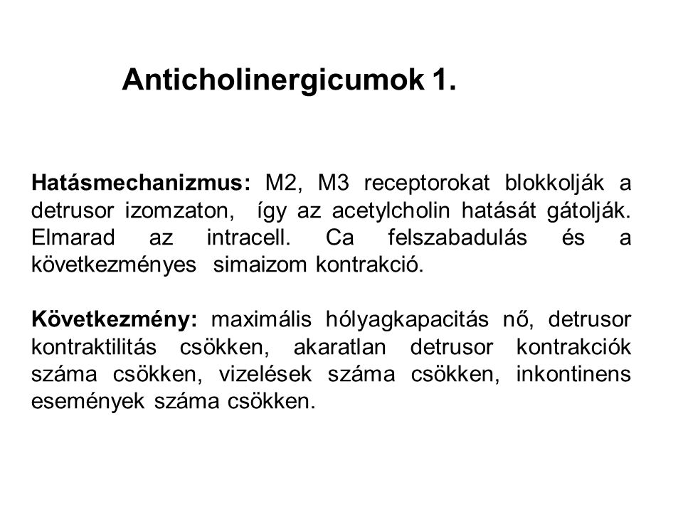 Anticholinergicumok 1.