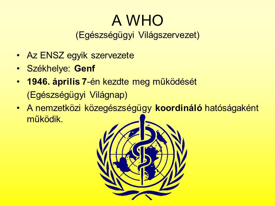 A WHO (Egészségügyi Világszervezet)