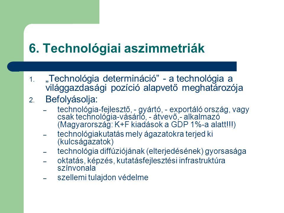 6. Technológiai aszimmetriák