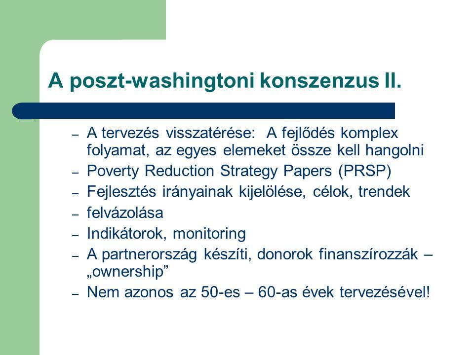 A poszt-washingtoni konszenzus II.