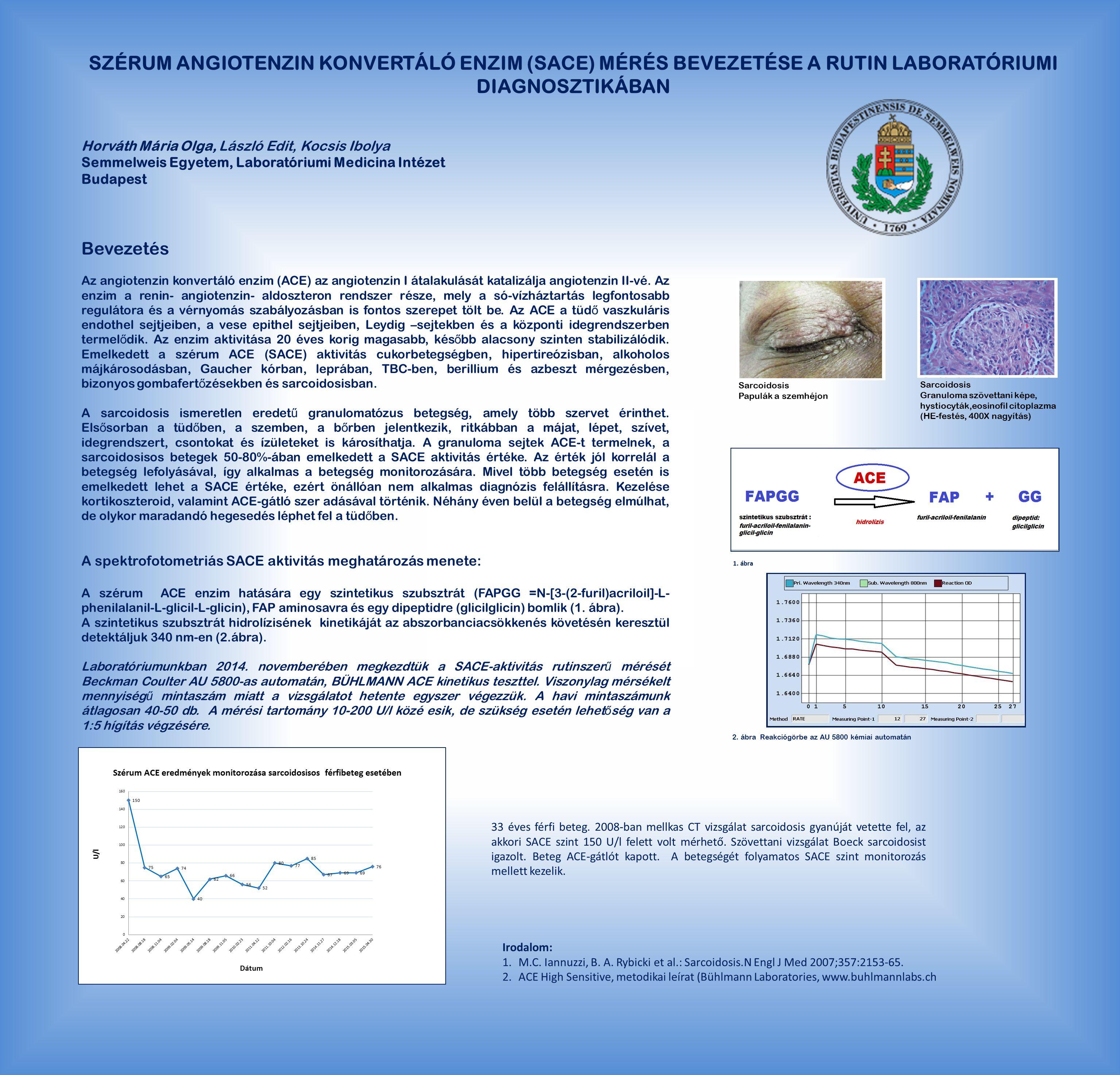 Szérum angiotenzin konvertáló enzim (SACE) mérés bevezetése a rutin laboratóriumi diagnosztikában