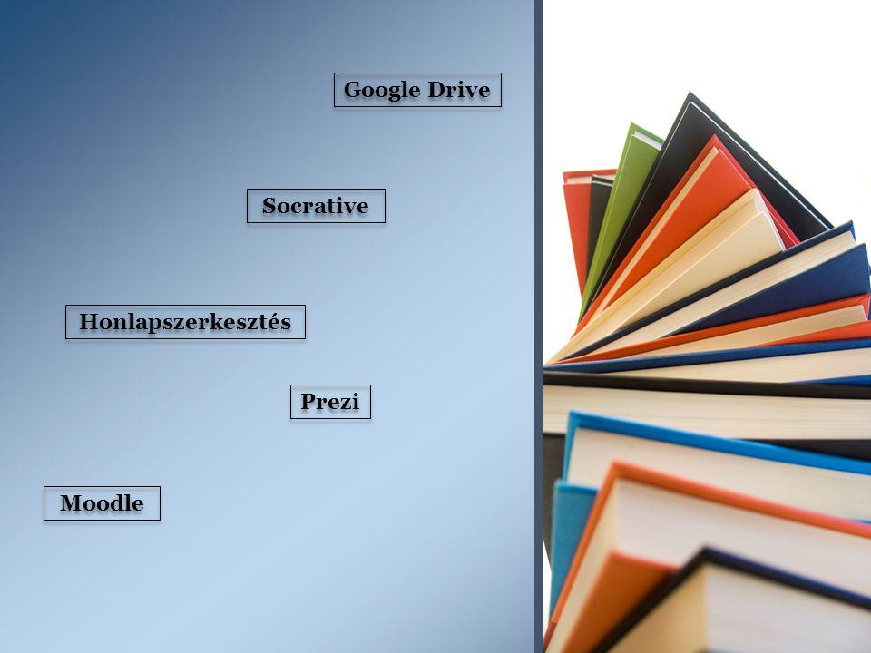 Google Drive Socrative Honlapszerkesztés Prezi Moodle