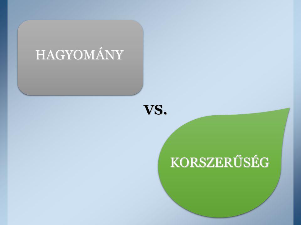 HAGYOMÁNY VS. KORSZERŰSÉG
