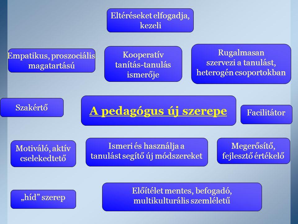 A pedagógus új szerepe Eltéréseket elfogadja, kezeli Rugalmasan