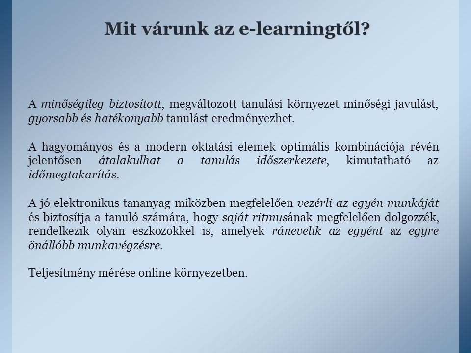 Mit várunk az e-learningtől