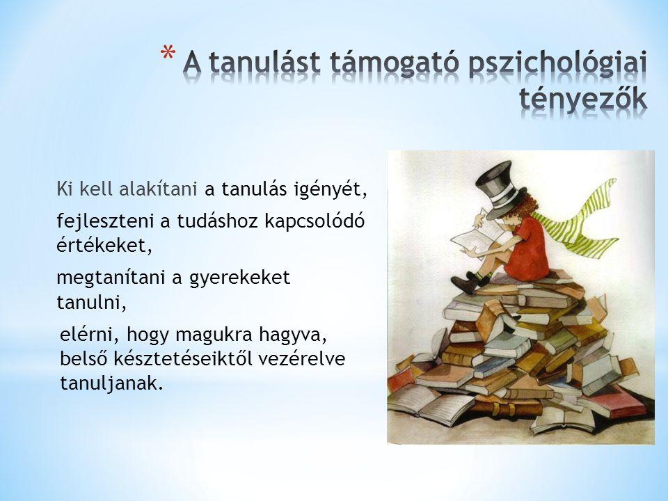 A tanulást támogató pszichológiai tényezők
