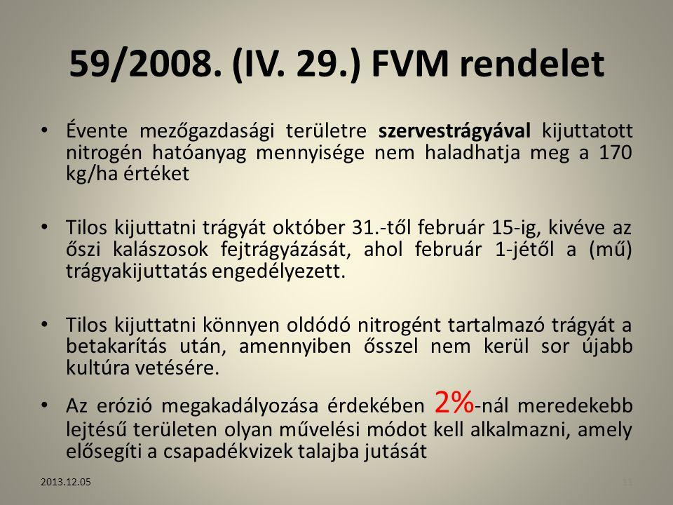 59/2008. (IV. 29.) FVM rendelet