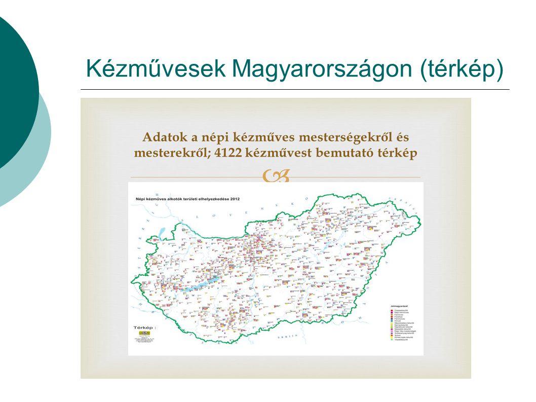 Kézművesek Magyarországon (térkép)