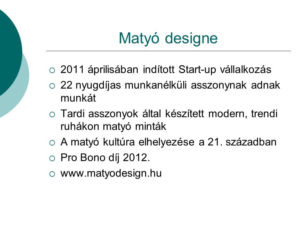 Matyó designe 2011 áprilisában indított Start-up vállalkozás