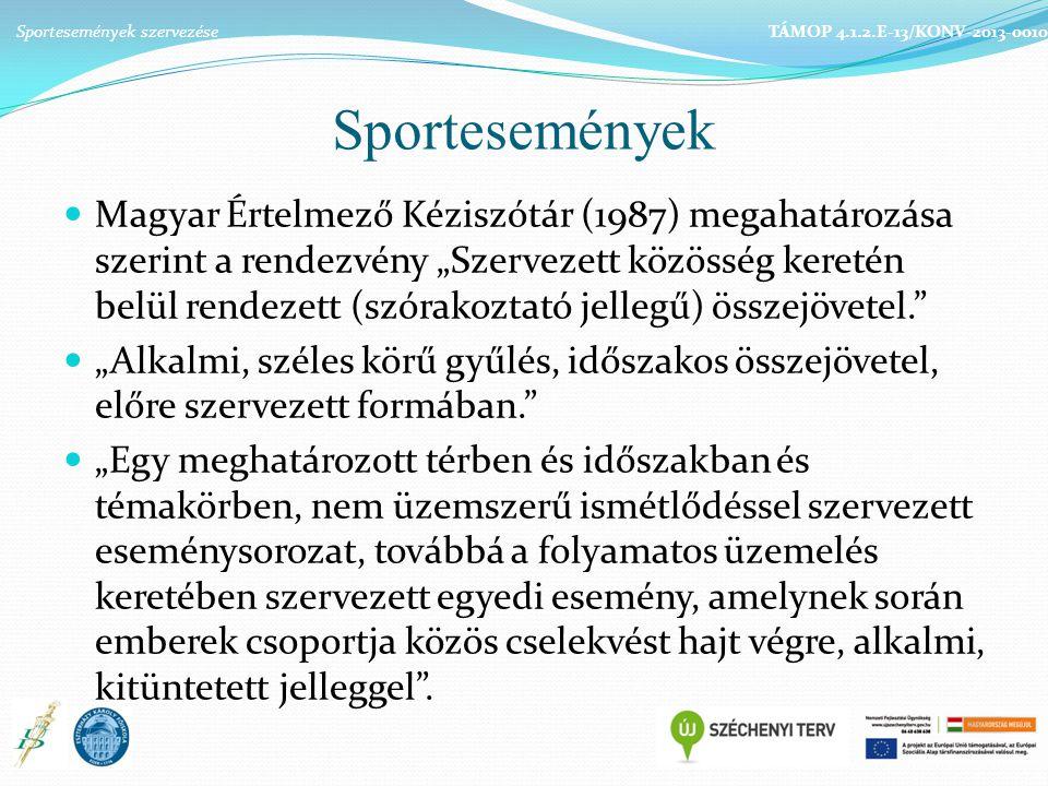 Sportesemények szervezése
