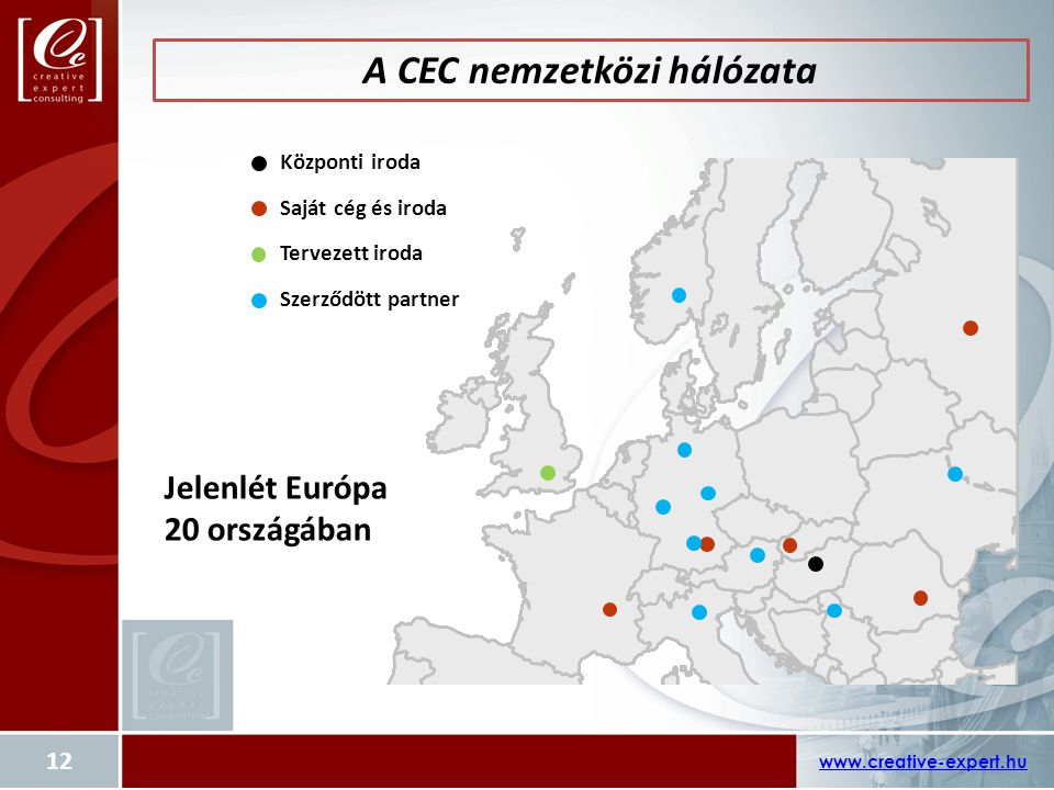 A CEC nemzetközi hálózata