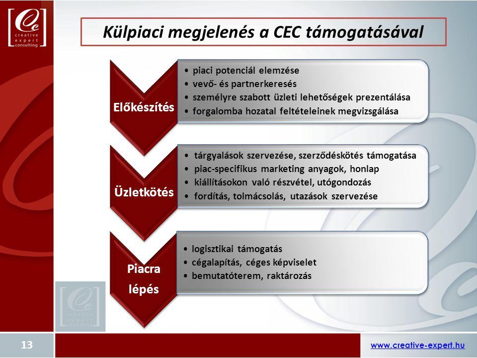 Külpiaci megjelenés a CEC támogatásával