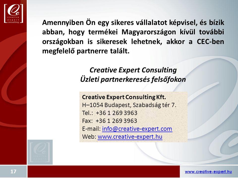 Creative Expert Consulting Üzleti partnerkeresés felsőfokon