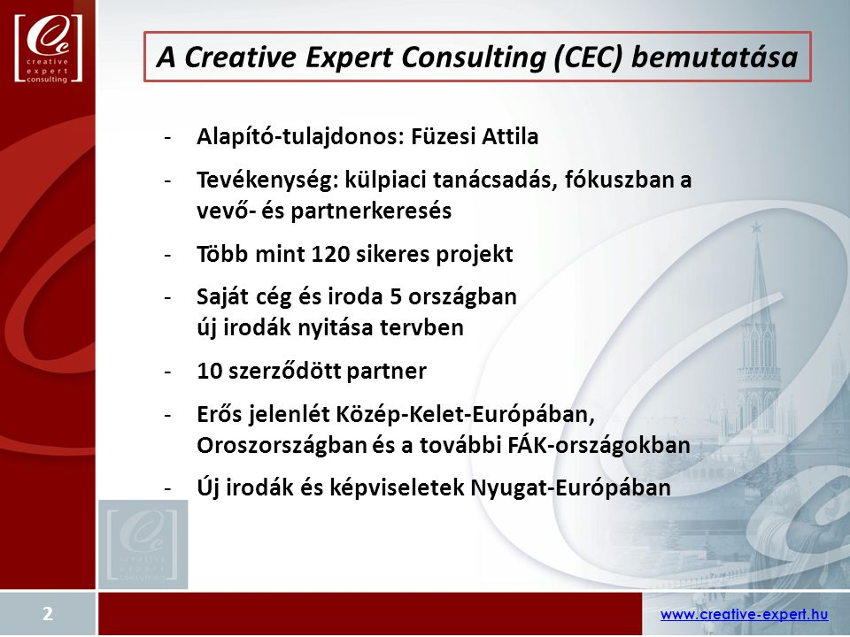 A Creative Expert Consulting (CEC) bemutatása
