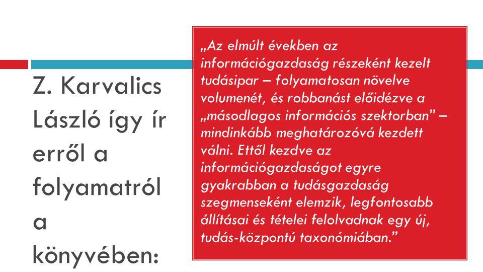 Z. Karvalics László így ír erről a folyamatról a könyvében: