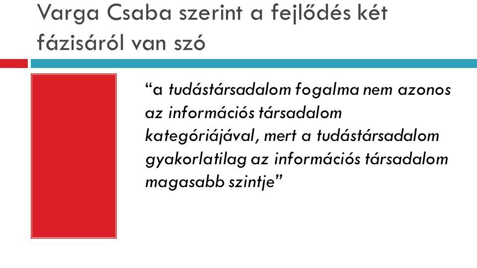 Varga Csaba szerint a fejlődés két fázisáról van szó