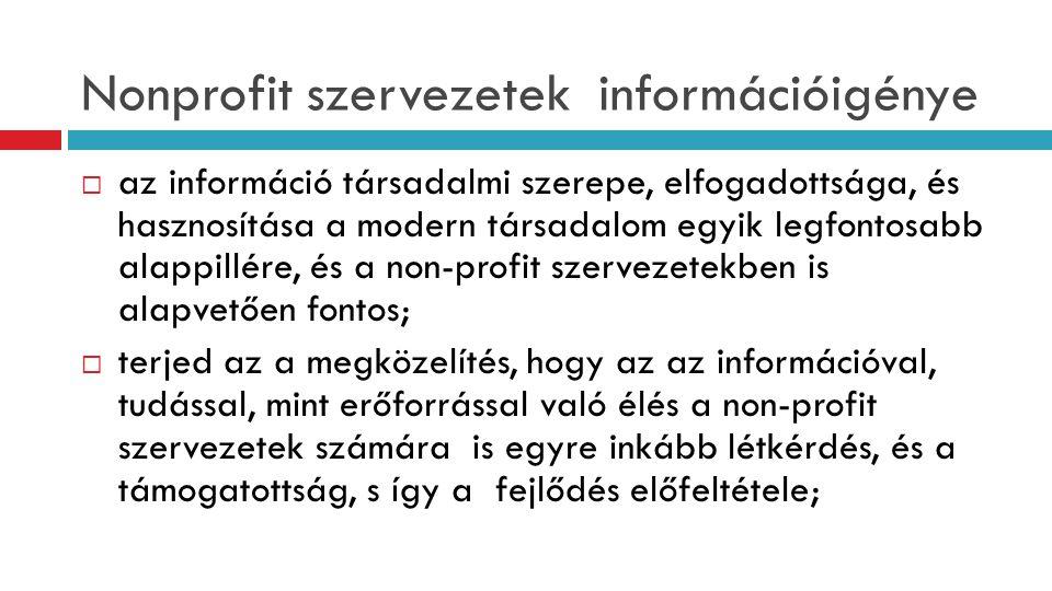 Nonprofit szervezetek információigénye