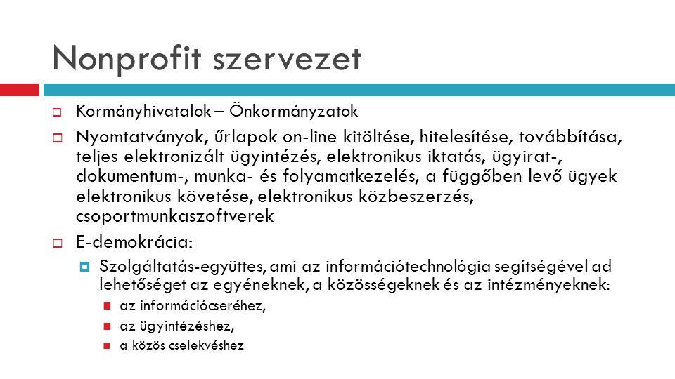 Nonprofit szervezet Kormányhivatalok – Önkormányzatok.
