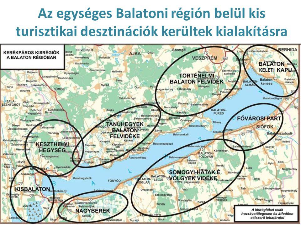 Az egységes Balatoni régión belül kis turisztikai desztinációk kerültek kialakításra