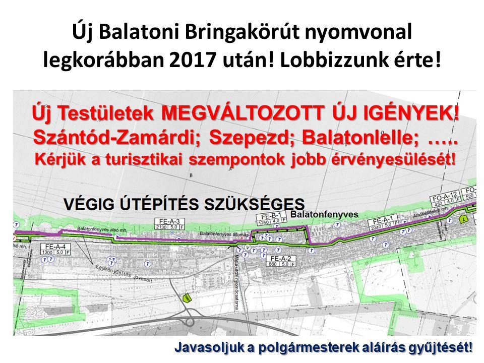 Új Balatoni Bringakörút nyomvonal legkorábban 2017 után
