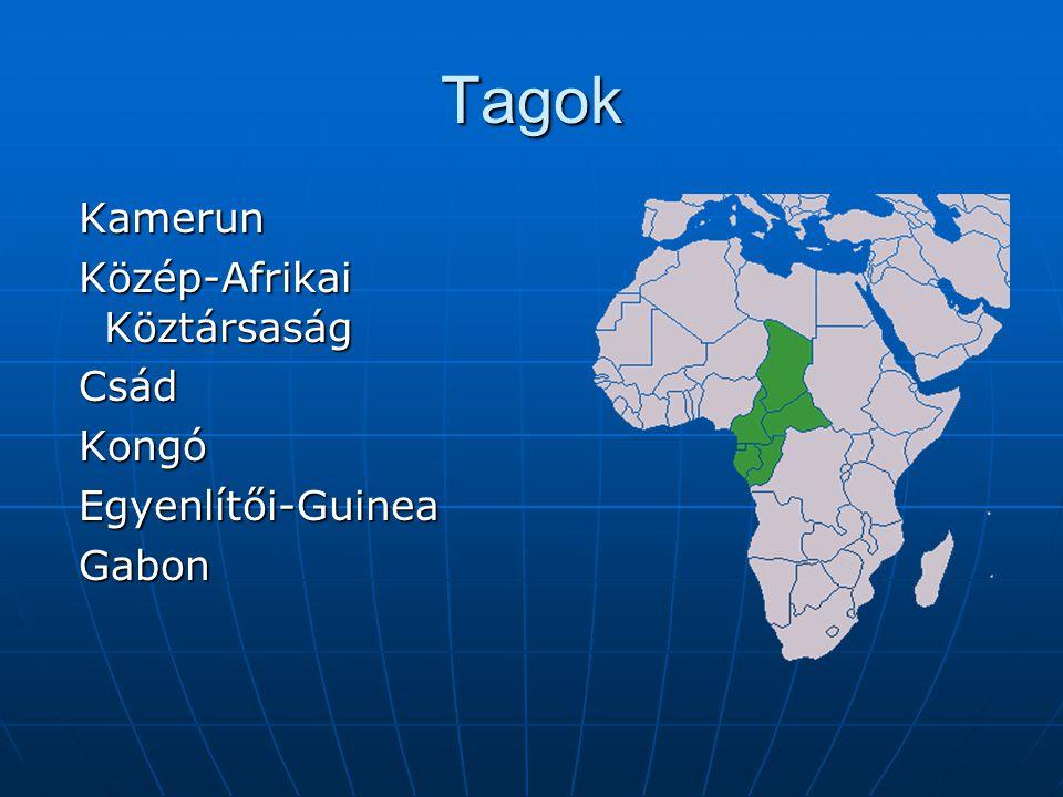 Tagok Kamerun Közép-Afrikai Köztársaság Csád Kongó Egyenlítői-Guinea