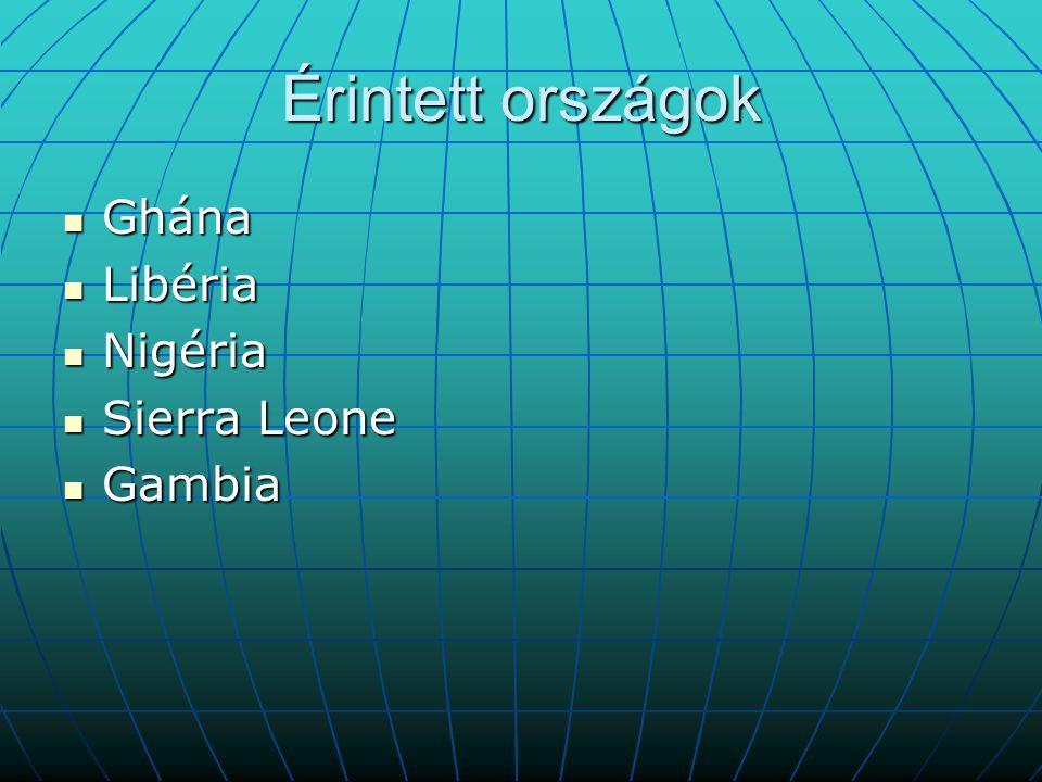 Érintett országok Ghána Libéria Nigéria Sierra Leone Gambia