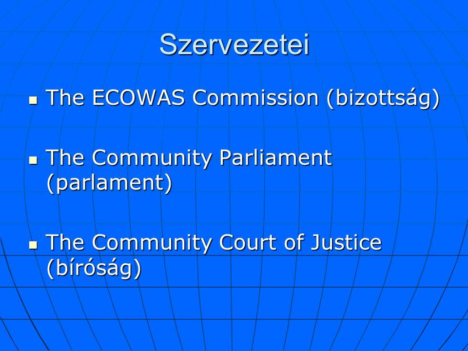 Szervezetei The ECOWAS Commission (bizottság)