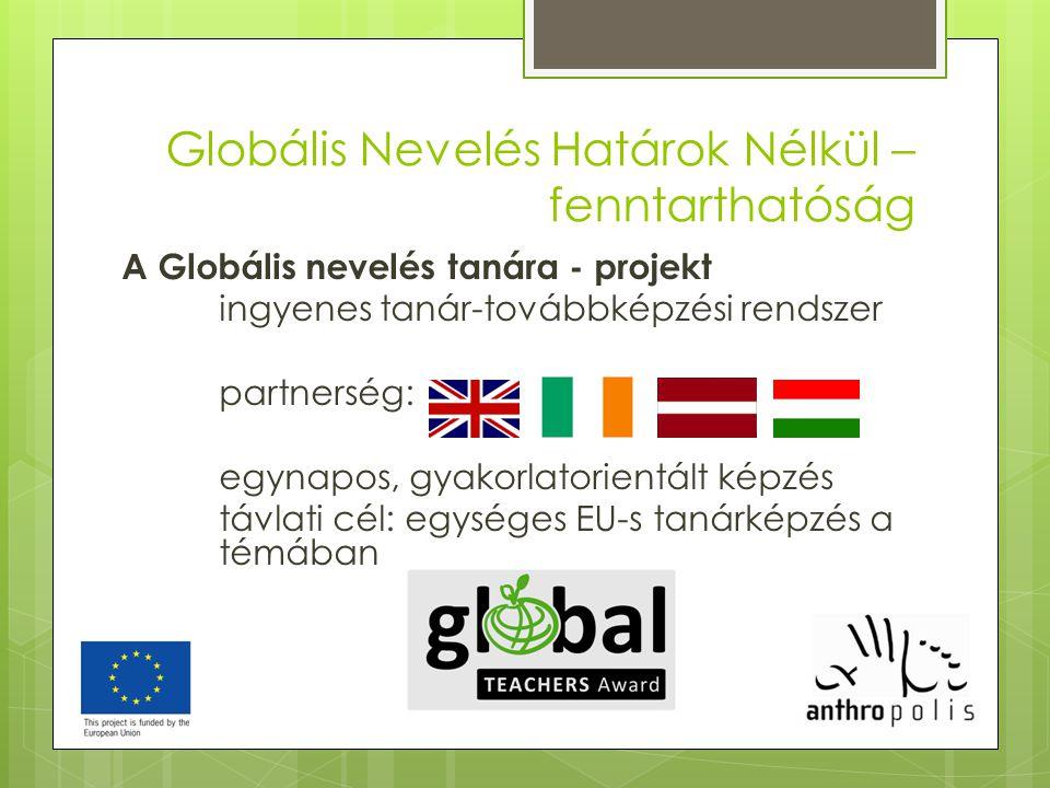 Globális Nevelés Határok Nélkül –fenntarthatóság