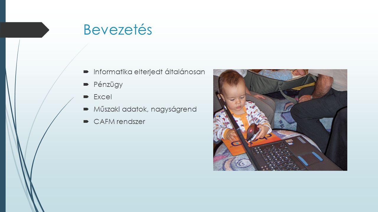 Bevezetés Informatika elterjedt általánosan Pénzügy Excel