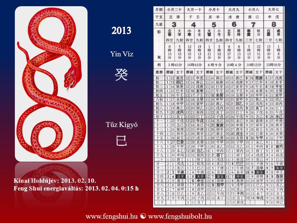 2013 Yin Víz Tűz Kígyó www.fengshui.hu  www.fengshuibolt.hu