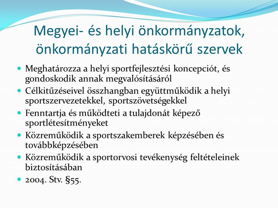 Megyei- és helyi önkormányzatok, önkormányzati hatáskörű szervek