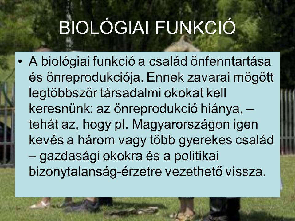 BIOLÓGIAI FUNKCIÓ