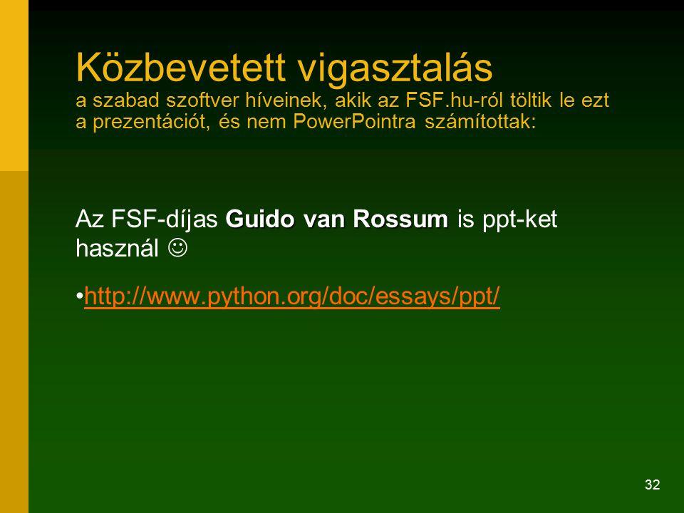Közbevetett vigasztalás a szabad szoftver híveinek, akik az FSF