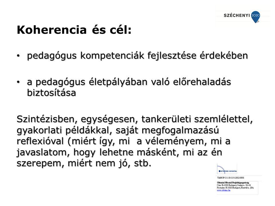 Koherencia és cél: pedagógus kompetenciák fejlesztése érdekében