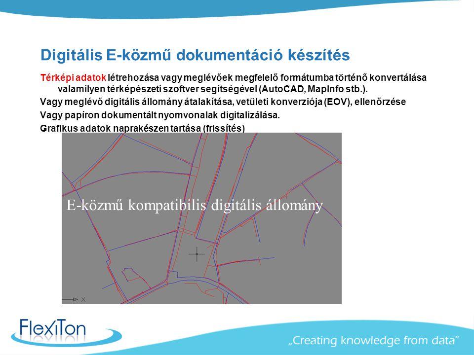 Digitális E-közmű dokumentáció készítés