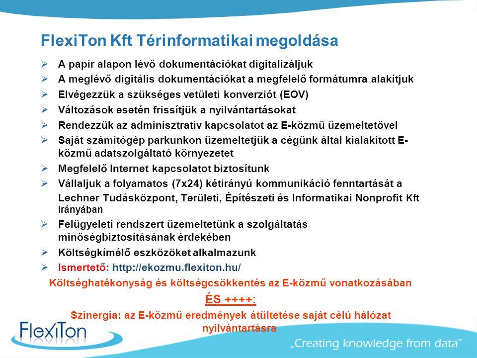 FlexiTon Kft Térinformatikai megoldása