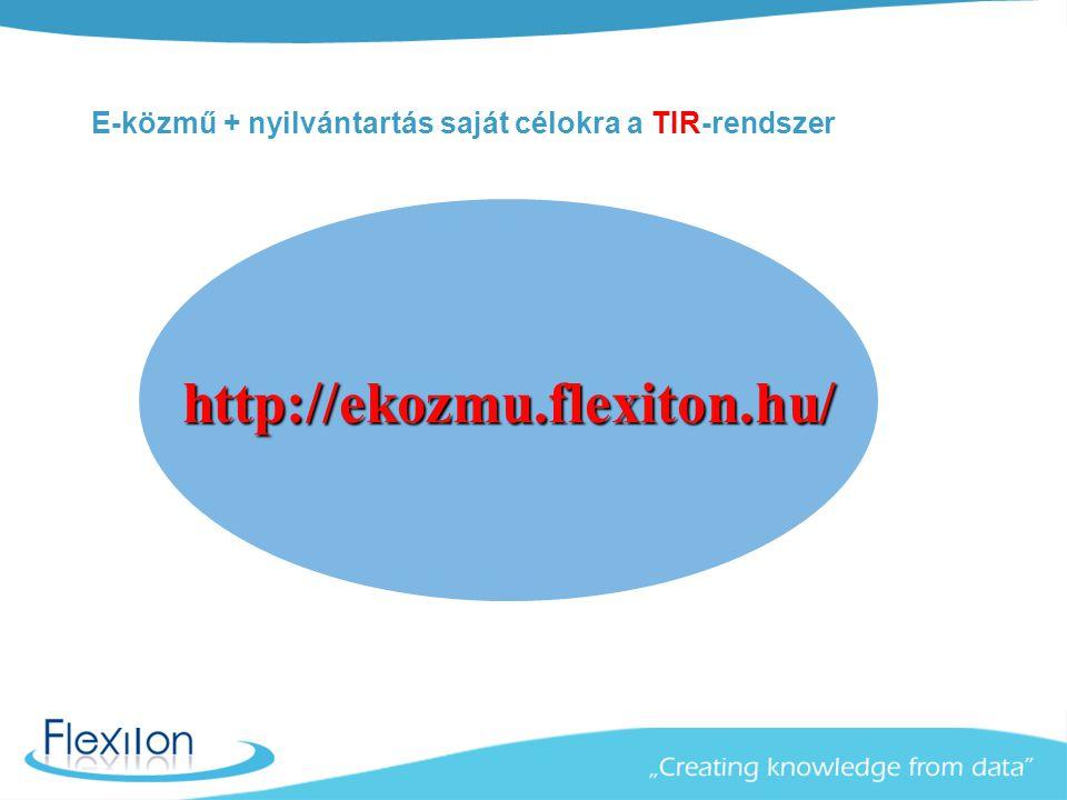 E-közmű + nyilvántartás saját célokra a TIR-rendszer