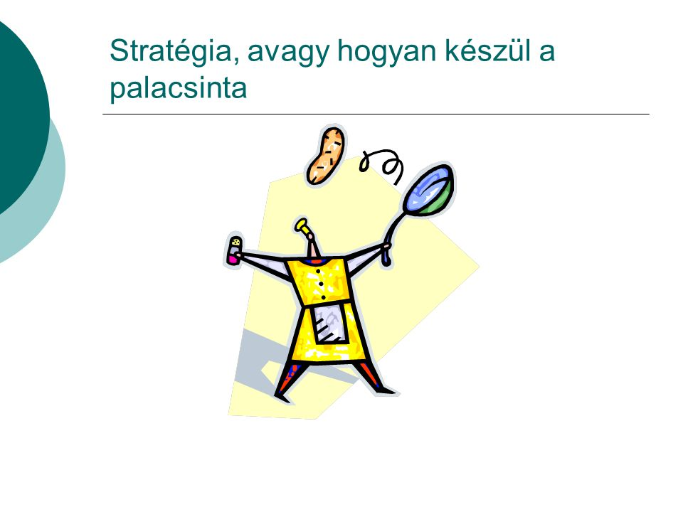 Stratégia, avagy hogyan készül a palacsinta