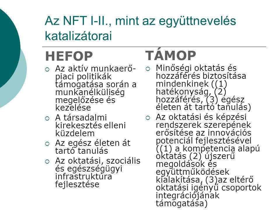 Az NFT I-II., mint az együttnevelés katalizátorai