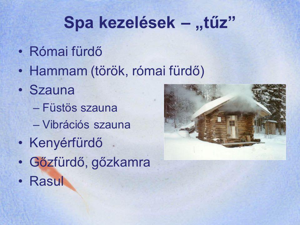 """Spa kezelések – """"tűz Római fürdő Hammam (török, római fürdő) Szauna"""