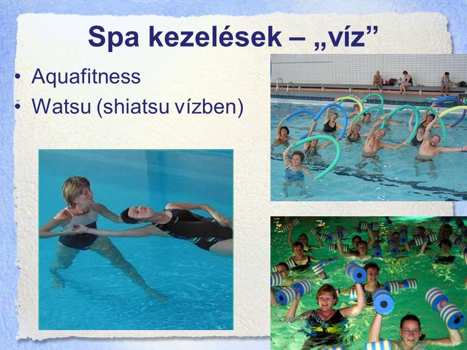"""Spa kezelések – """"víz Aquafitness Watsu (shiatsu vízben)"""