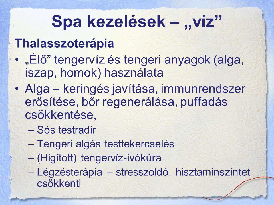"""Spa kezelések – """"víz Thalasszoterápia"""