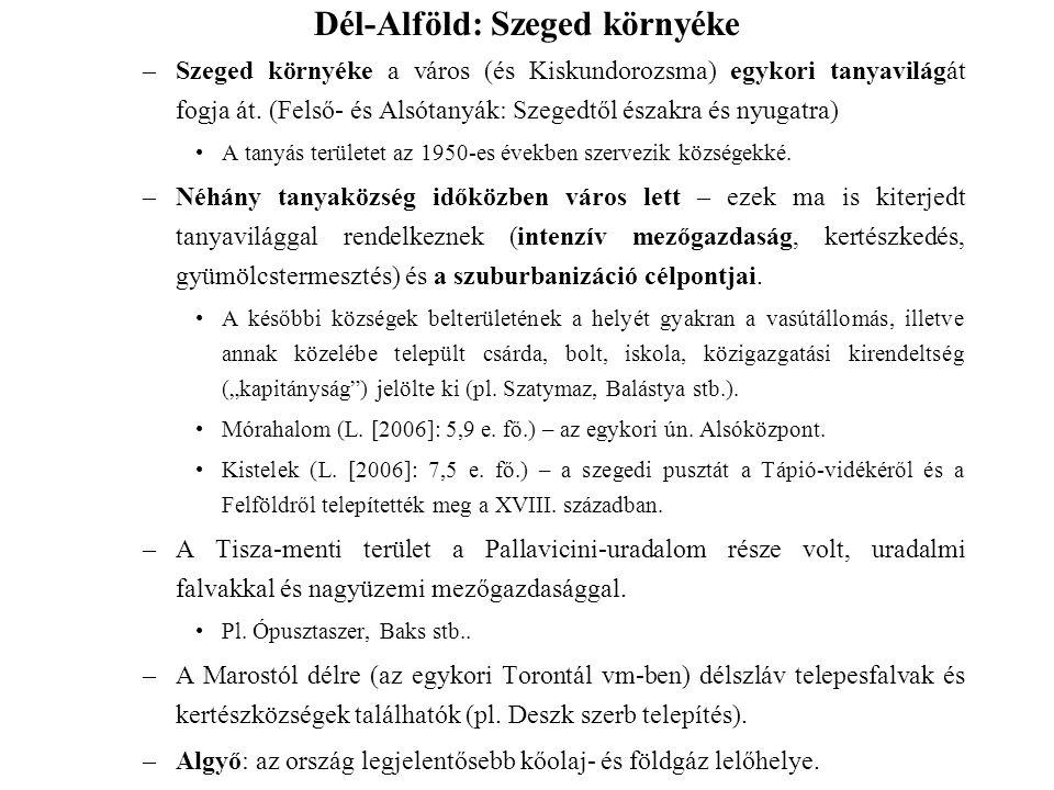 Dél-Alföld: Szeged környéke